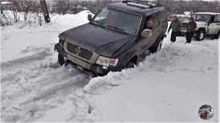 Маршрут упёрся в снежный завал. Разворачиваемся? Нивы УАЗы Great Wall Safe