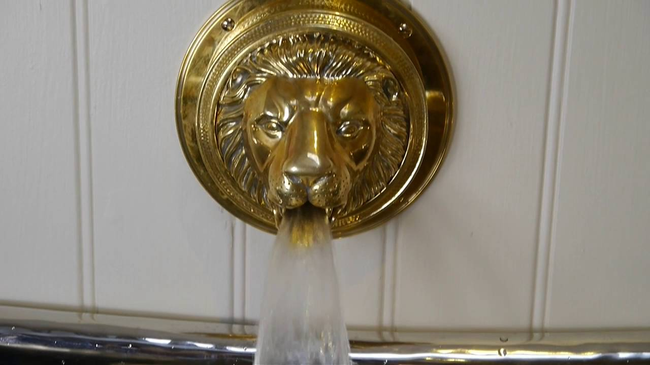lions head bath filler bath faucet lion tap gold tap chadder