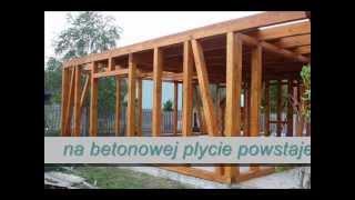 Budowa domu szkieletowego TARTAK więźby dachowe.wmv
