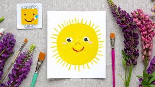 СОЛНЫШКО/ Как нарисовать солнце /солнышко - урок рисования для детей/ малышей рисуем дома
