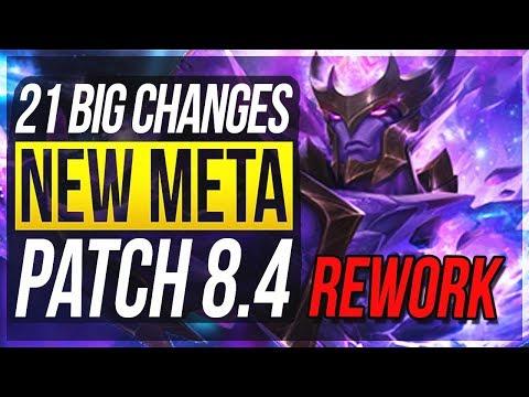 RENGAR REWORK! NEW BARON BUFF!! 21 BIG CHANGES & NEW OP CHAMPS Patch 8.4 - League of Legends