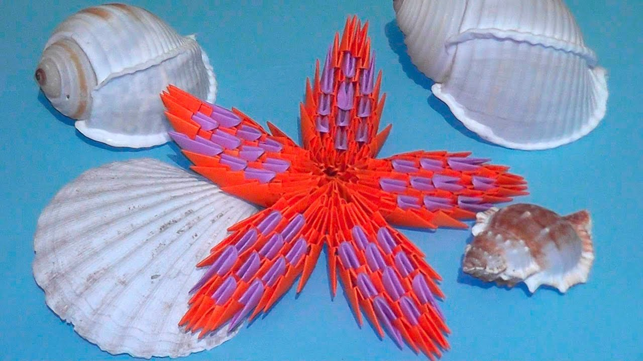 how to make a starfish 3d origami modular origami video