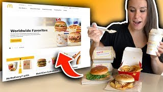 Ordering EVERYTHING PROMOTED on the Mcdonalds Website!! Feat.  The Worldwide Menu