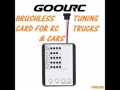 GoolRC Brushless RC tuning card