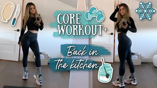 CORE Workout! Cooking Delights + A Night Out on the Town *wow she social*