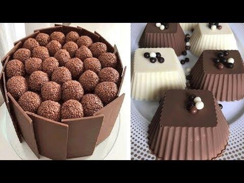 DIY Chocolate Cake Decorating Tutorial | Yummy Chocolate Cake Recipes | Easy Cake Decorating Ideas
