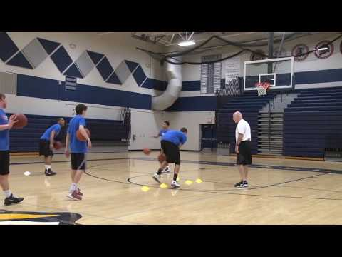 Cones Ball Handling/Finishing Warm Up