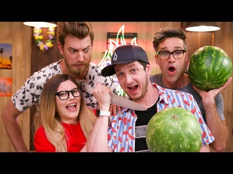 🍉 Watermelon Carving Challenge ft.Rhett and Link