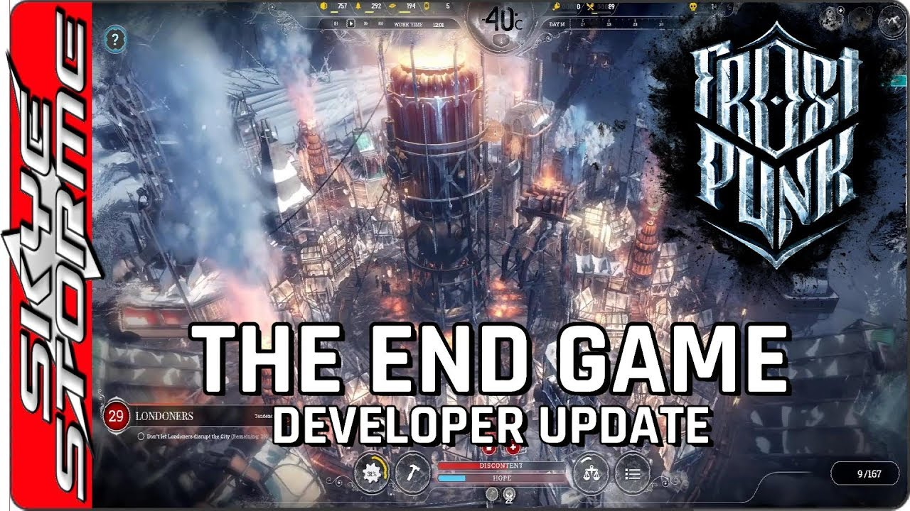 Frostpunk 2018 Game Wallpapers: Frostpunk The End Game Strategy
