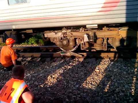 Сход поезда № 144 22.06.2013
