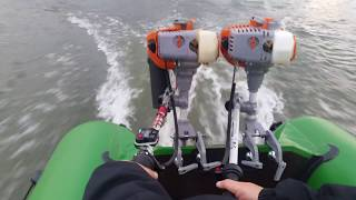 два мотора CARVER MHT-3,8S на лодке UREX 320K