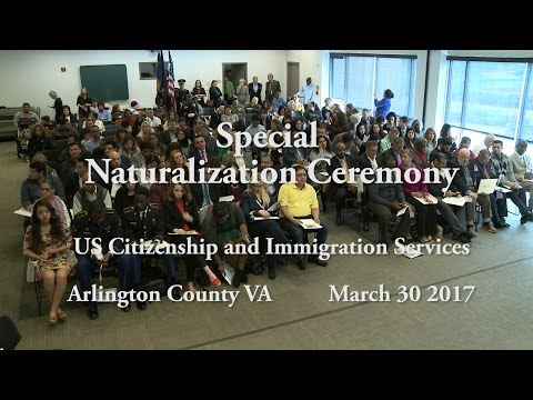 Special US Naturalization Ceremony - Arlington VA
