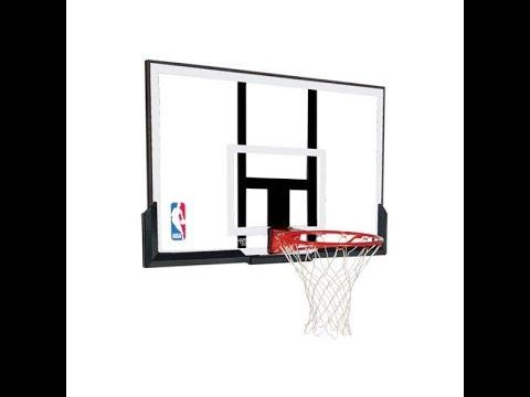 Инструкция по монтажу баскетбольного щита с кольцом Spalding NBA Combo 50