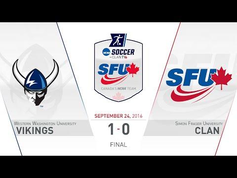 SFU Clan Women's Soccer: SFU vs. WWU - September 24, 2016
