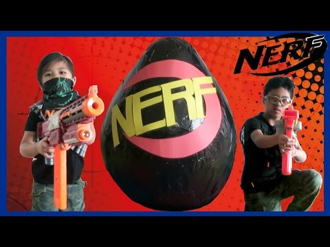 NERF TOY BLASTERS World Biggest Giant Egg Surprise Opening TBT FunTV