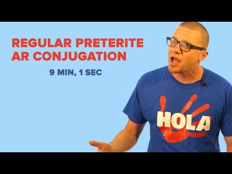 Spanish preterite tense regular verbs quiz
