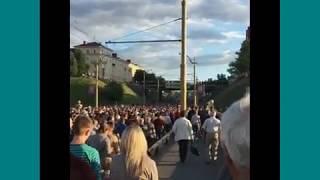 15 июня 2017 г. в Гродно крестный ход по поводу праздника Божьего Тела.