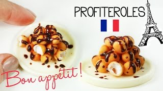 polymer clay profiteroles TUTORIAL | polymer clay food | french pastry