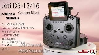 Jeti DS-16 G2 & DS-12 Carbon Black 2.4GHz / 900MHz Radio Systems