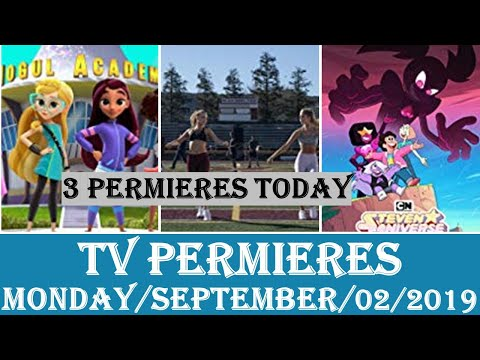 Monday, September 2, 2019, TV PREMIERES with Sonarr and