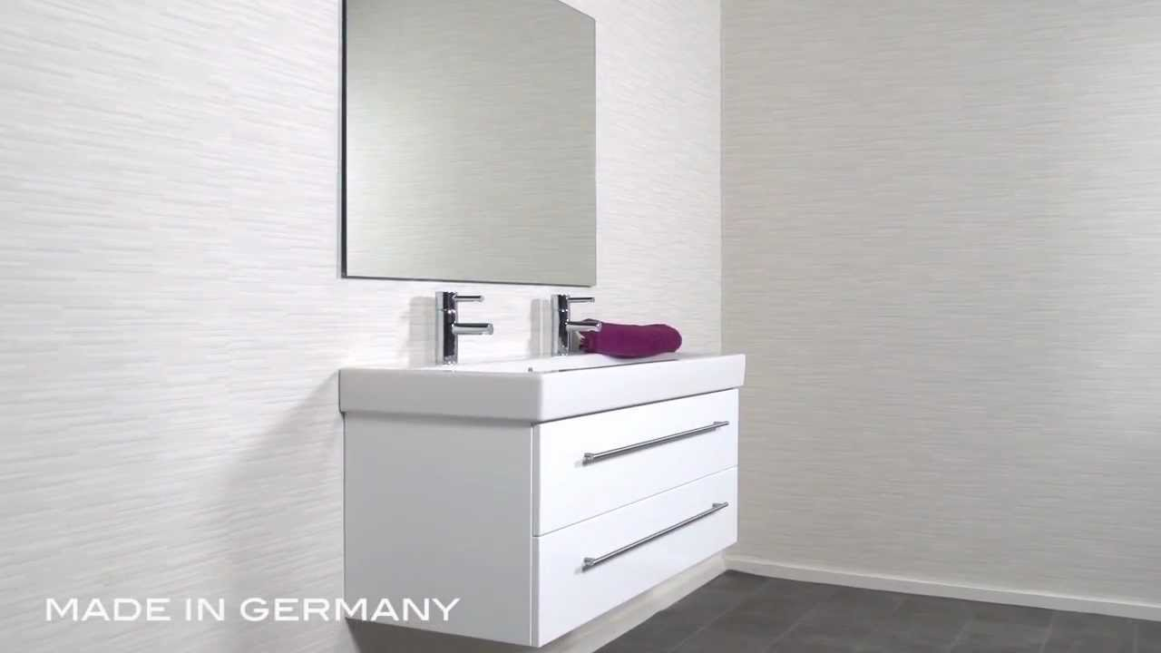 badm bel keramag icon 120 cm weiss youtube. Black Bedroom Furniture Sets. Home Design Ideas