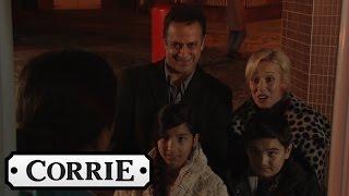 Coronation Street - Dev & Julie Surprise Mary At Her Motorhome