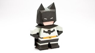 Chibi Batman Papercraft Model