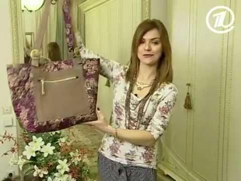8569bc9e 062 - Ольга Никишичева. Сумка из обрезков - YouTube