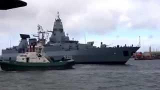 Hamburg Frigate  /German Navy leaving Dublin 18th March 2014