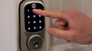 A lock without a key? This is the Yale Real Living Touchscreen Z-Wave Deadbolt