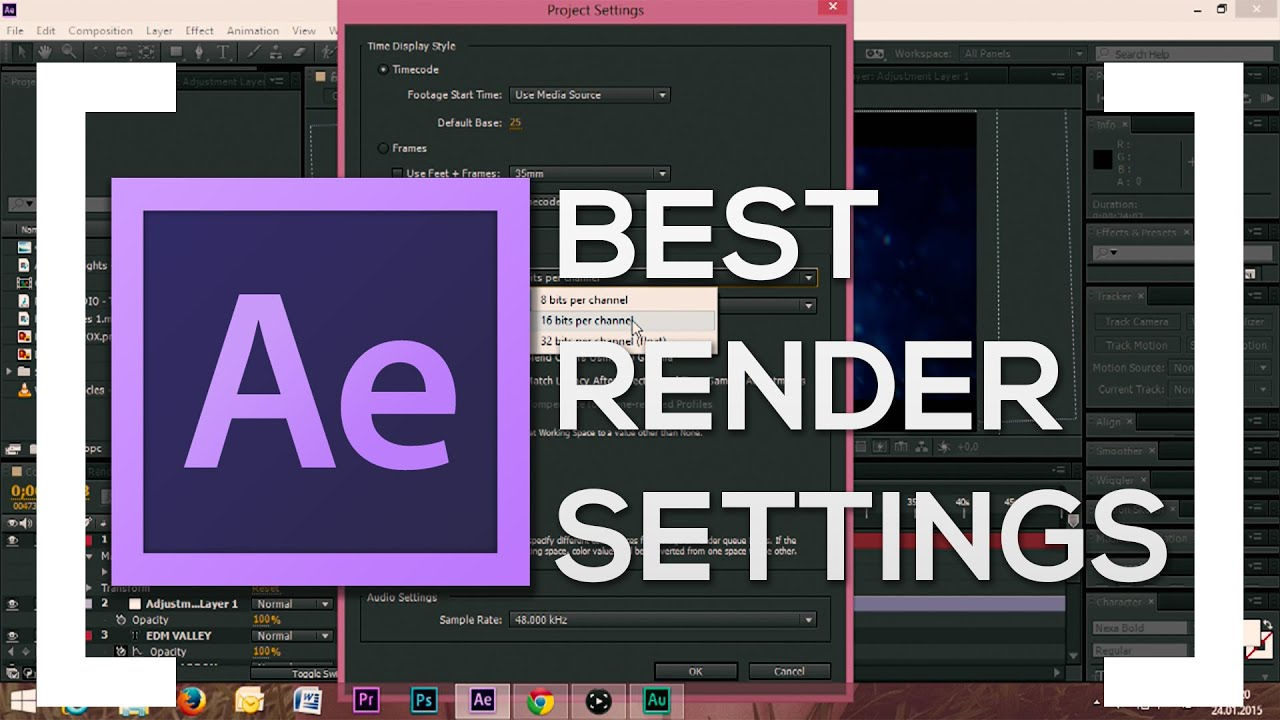 Best Render Settings - After Effects CC Tutorial (Fast and High ...