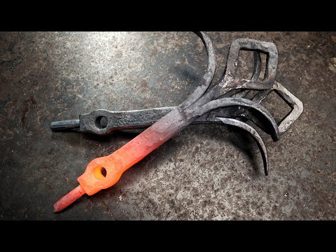 Forge Welded Andirons Part 3