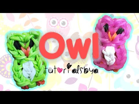 owl-charm-/-mini-figurine-rainbow-loom-tutorial