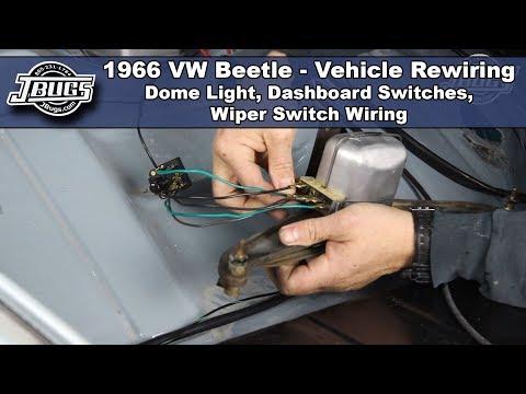 JBugs - 1966 VW Beetle - Vehicle Rewiring - Dashboard Switch Wiring