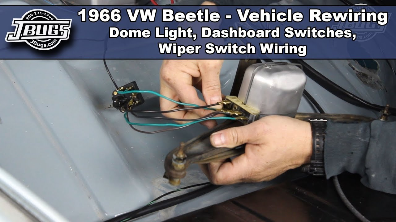 [XOTG_4463]  JBugs - 1966 VW Beetle - Vehicle Rewiring - Dashboard Switch Wiring -  YouTube | 1966 Beetle Wiring Diagram |  | YouTube