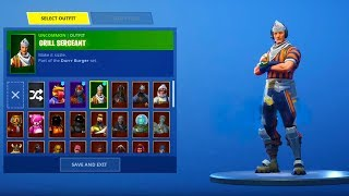 "*NEW* ""Grill Sergeant"" SKIN SHOWCASING WITH ALL NEW Fortnite DANCES & EMOTES"