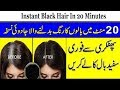 Instant Black Hair In 20 Minutes | Homemade Hair Dye | Turn Grey Hair To Black In Urdu/Hindi