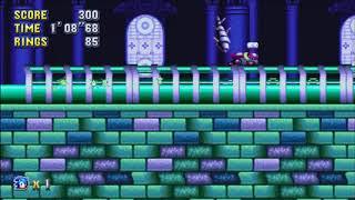 """Sonic Mania (PC) - Hydrocity 2 Sonic: 1'38""""47 (Speed Run)"""