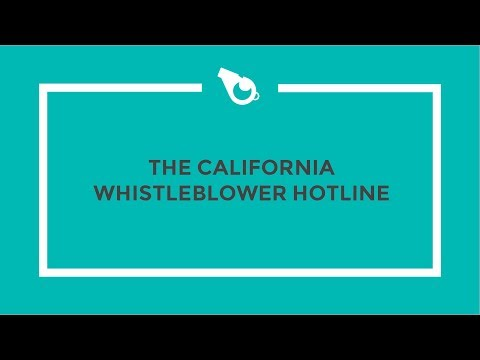 California State Auditor Whistleblower Hotline