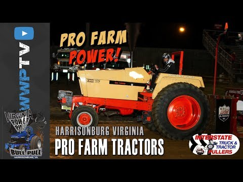 10000 Pro Farm Tractors pulling at Harrisonburg September 30 2017