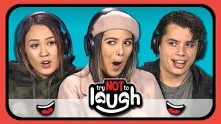 connectYoutube - YouTubers React to Try to Watch This Without Laughing or Grinning #14