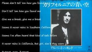 It Never Rains In Southern California (カリフォルニアの青い空) / ALBERT HAMMOND