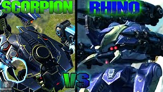 Scorpion VS Rhino Leech | Which Is The Best Robot In The Game? - The Top Brawling Machines | WR