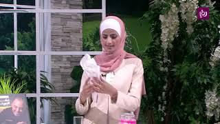 مها شقديح -  تجهيز السفرة بايتخدام أدوات من المنزل
