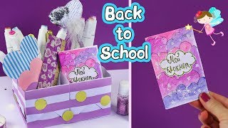 4 DIY Delicate School supplies  Back to school ideas from paper
