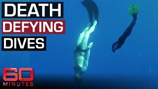 Extreme free divers breaking world records 60 Minutes Australia