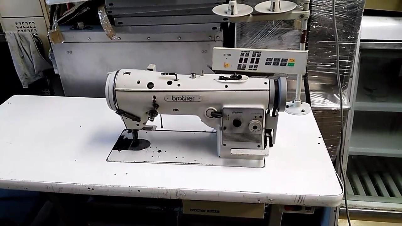Maquina coser brother zig-zag LZ2-B854-903 - YouTube