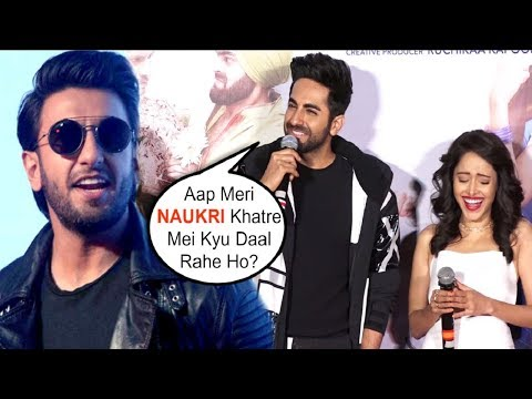 Dream Girl Trailer Launch | Ayushman Khurana EPIC Reaction On Competing With Ranveer Singh Mp3