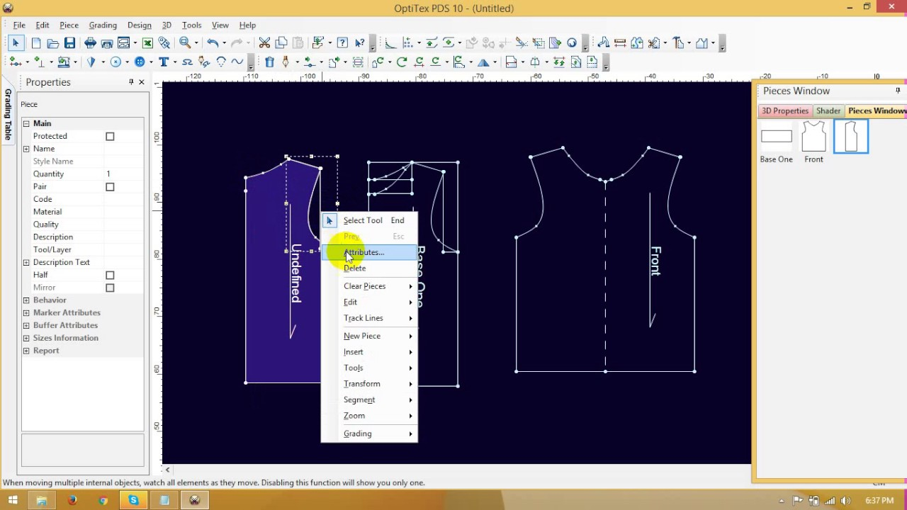 How To Design A T Shirt In Cad Pattern Making Of T Shirt In Cad By Optitex Youtube