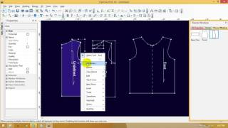 How To Design A T-Shirt In CAD || Pattern Making Of T-shirt In CAD By Optitex